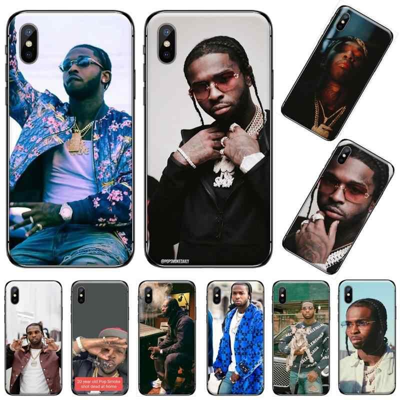 Rapper – coque de téléphone Pop Smoke usa boy, étui pour iphone 5 5s 5c se 6 6s 7 8 plus x xs xr 11 pro max
