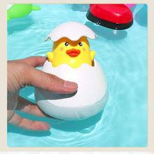 Baby Shower Bath Bubble Maker Little Duck Toys Bath For Children Summer Pool Swimming Sprinkling Bathroom Water Toys Kids Gifts(China)
