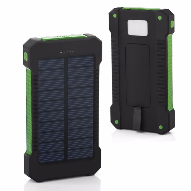 20000mAh Top Solar Power Bank Waterproof Emergency Charger External Battery Powerbank For Xiaomi MI iPhone Samsung LED SOS Light 2