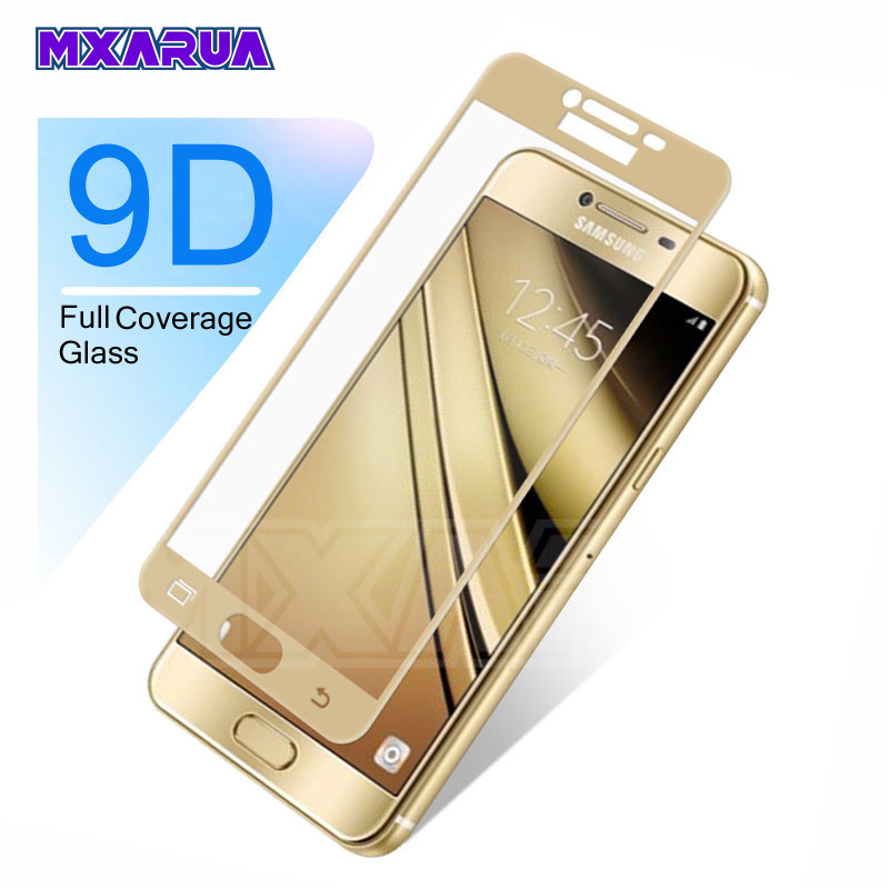 9D Full Cover Tempered Glass For Samsung Galaxy A3 A5 A7 J3 J5 J7 2016 2017 S7 Screen Protector Safety Protective Glass Film
