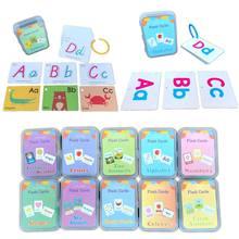 Детские карманные карточки для изучения английского языка, карточки для вспышек, дошкольные Монтессори, Обучающие игрушки, буквы алфавита, ...