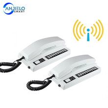 New Wireless 2.4GHz 433MHz Recharged Audio Intercom System Secure Interphone Handsets Expandable for Warehouse Office home phone