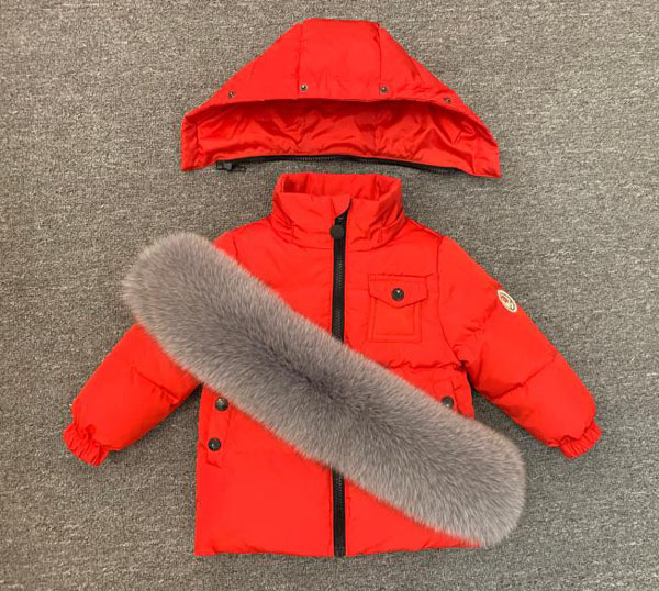 Children's winter suit kid's down 2 pieces Boys and girls wear thick ski jackets - 5