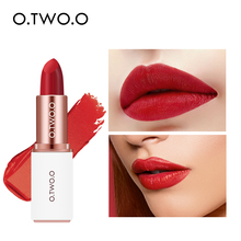 O.TWO.O 12 Colors Pigment Matte Lipstick Moisturizer Long Lasting Makeup Lips Waterproof Full Coverage No Dry Smooth Lip stick