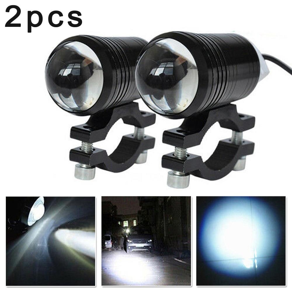 2pcs Motorcycle LED Headlight Driving Fog Light Spot Lamp On/Off Switch U1 Lens 6000K-7000K 600LM Motorcycle Lights