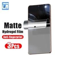 3Pcs Matte Hydrogel Film Für Samsung Galaxy A72 A52 A40 A60 A70 A10 A12 J6 A6 A7 A8 A9 j8 Plus 2018 F62 F52 M42 Screen Protector