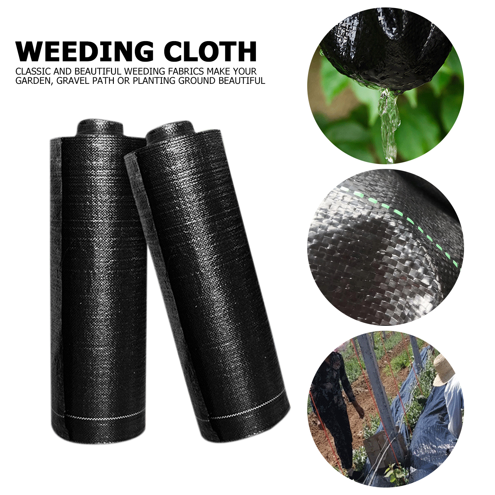 Agricultural Anti Grass Cloth Garden Weed Barrier Control Landscape Fabric Ground Cover Membrane for Outdoor Mulch Pavers