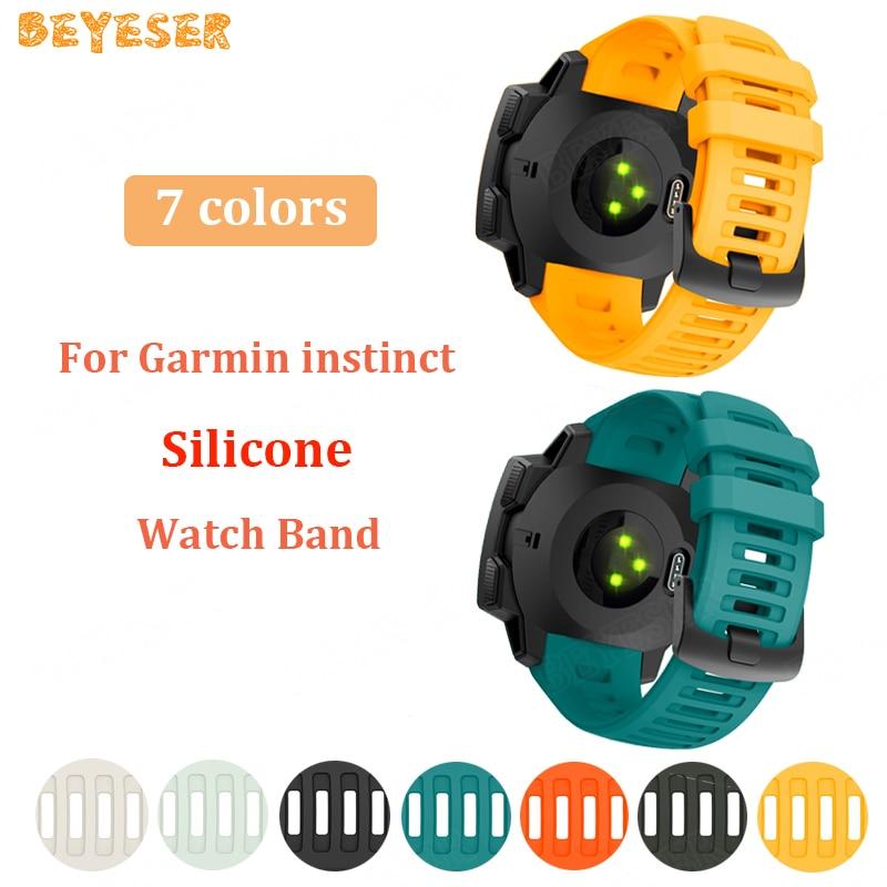 For Garmin Instinct Watch Strap Silicone Band Replacement Smart Accessories Wristband For Garmin Instinct Watchband Bracelet