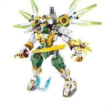 Novo 929 pçs ninja lloyd titan mech robô diy blocos de construção conjuntos com figuras brinquedos educativos compatíveis ninjagoed para crianças