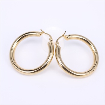 Stainless Steel Hoop Earrings Earrings Jewelry Women Jewelry Metal Color: Diameter40MM Round