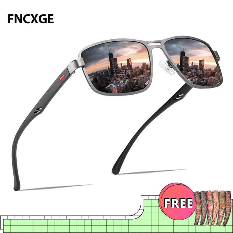 2020 New Mens Sunglasses Men Polarized Square Driving Sun Glasses UV400 Goggle Metal Frame  Fishing  Eyewear Fashion 5925