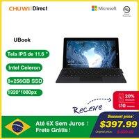CHUWI UBook 11,6 pulgadas Tablet PC Intel N4120 Quad Core 8GB 256GB 10 de Windows OS tabletas Wifi de doble banda Bluetooth 5,0