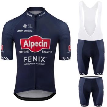 Alpecin FENIX-ropa de ciclismo para hombre, Conjunto de Jersey de ciclismo, pantalones...