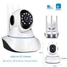 EWeLink IP מצלמה חכם IOT HD מצלמה reomotely צפייה על ידי טלפון נייד דו כיוונית אודיו אינטרקום ראיית לילה ir LED מצלמה
