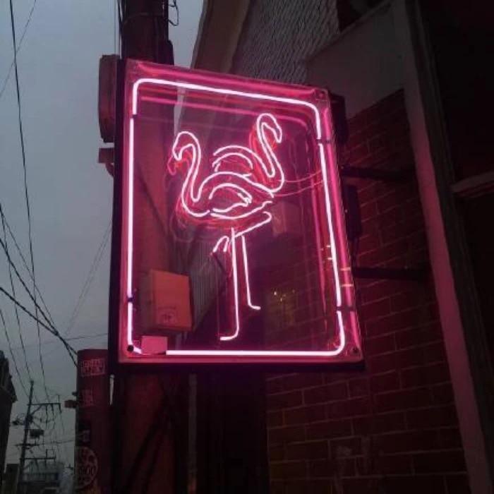 PINK Flamingo Signboard Neon Light Signs Glass tube neon lamp decoration light christmas