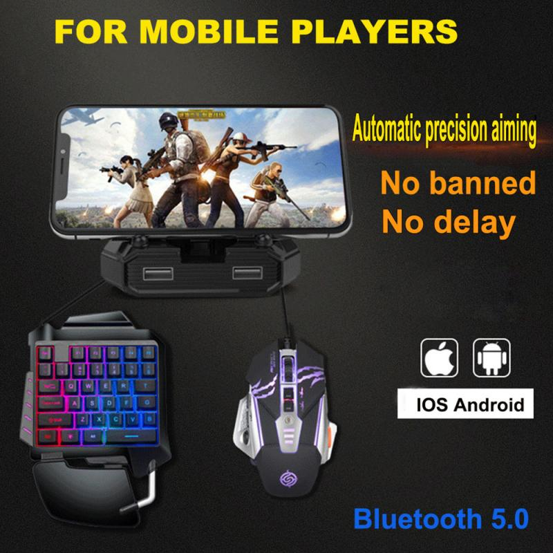 Pubg Mobile Bluetooth 5.0 For Android PUBG Controller Mobile Controller Gamer Gaming Keyboard Mouse Converter For IOS/Android/PC