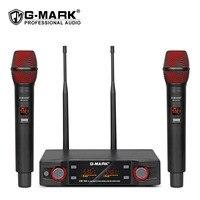 G-MARK EW100-micrófono inalámbrico de mano PARA Karaoke, profesional, 80M de distancia, para escenario y fiesta, Frecuencia ajustable