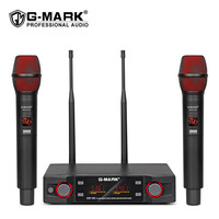 G MARK EW100FM Wireless Microphone Handheld Professional Cordless Karaoke Frequency Adjustable 80M receive stage performance