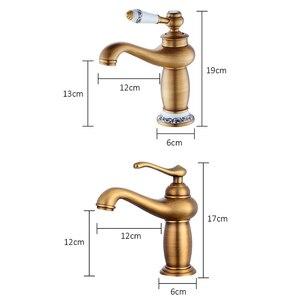 Image 3 - ก๊อกน้ำห้องน้ำAntique Bronze FINISHอ่างล้างหน้าทองเหลืองก๊อกน้ำเดี่ยวน้ำMixerก๊อกBath Crane ELFCT001