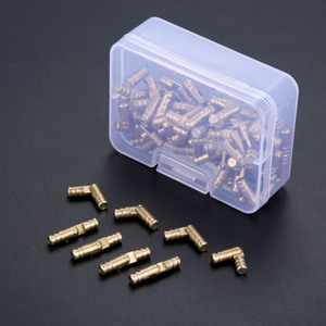 Image 5 - DRELD charnières dissimulées en laiton, 100 pièces, boîte à bijoux en bois, charnière Invisible, 4x20mm, avec boîte de rangement
