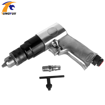 3/8Pneumatic Tools Pneumatic Air Drill  High Speed Cordless Pneumatic Gun Drill Reversible Air Drill Tools for Hole 1.5-10mm 10mm high speed pneumatic drill industrial grade driller with 90 degree 3 8 elbow corner