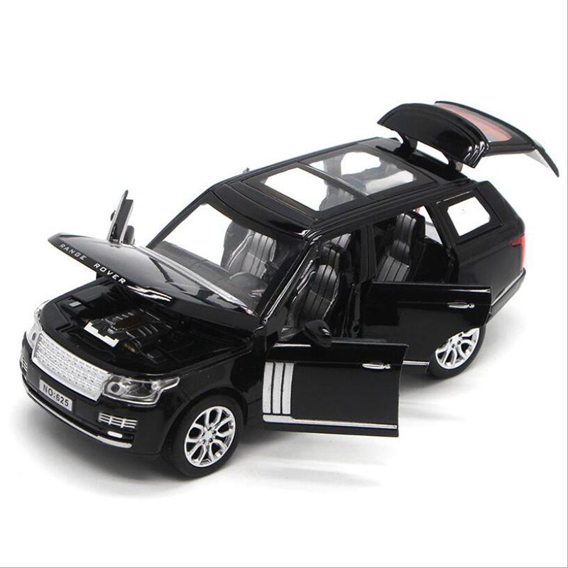KaKBeir Land-Rover Range Rover SUV Alloy Car Model 1/32 Sound Light Toy Car Metal Car Model Boy Toy Children Gifts G