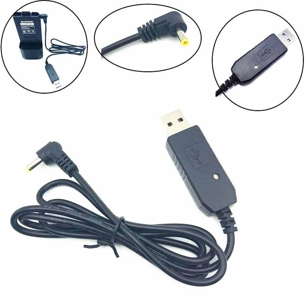 USB 充電ケーブルインジケータライトトランシーバー baofeng UV-5R 拡張バッテリー BF-UVB3 プラス Batetery アマチュア無線
