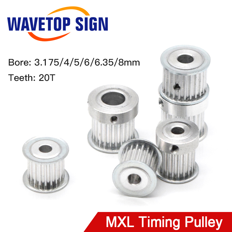 Timing Pulley MXL Gear Pulley Synchronous 20 Teeth Width 7/11/15mm Bore 3.175-8mm For DIY CO2 Laser Engraving Cutting Machine