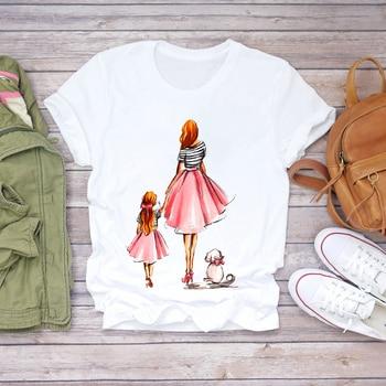 Women Cartoon Super Mom Life Momlife Summer Print Lady T-shirts Top T Shirt Ladies Womens Graphic Female Tee T-Shirt 21