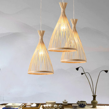 Wood Pendant Light Modern Bamboo Dinner Light Loft Nordic Hanging Lamp Kitchen Pendant Lamp Design Bedroom Dining Room Light E27 modern black wood birdcage e27 bulb pendant light norbic home deco bamboo weaving wooden pendant lamp