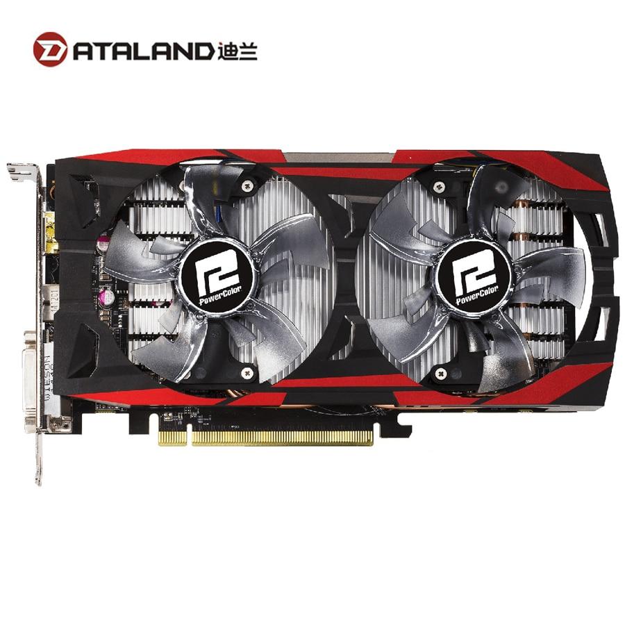 Видеокарта DATALAND R9 370 4 ГБ/R7 370 4G GPU для AMD Radeon R9370 R7370, видеокарта для компьютерных игр, 1024SP 985 МГц, б/у