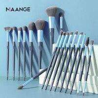 MAANGE-Juego de brochas de maquillaje, 5/10/18 Uds., sombra de ojos, base, colorete, fusión para belleza, herramientas maquillaje, brochas