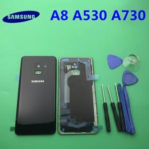 Image 4 - Ersatz Original Hinten Panel Batterie Glas Zurück Tür Abdeckung Für Samsung Galaxy A8 A8plus 2018 A530 A530F A730 A730F + werkzeug