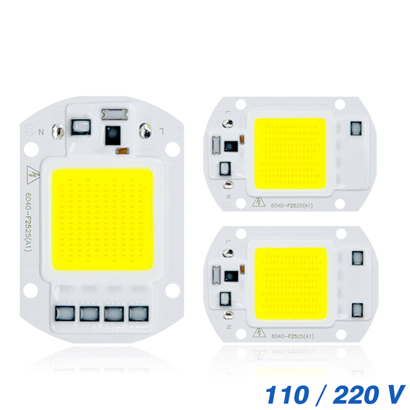 <font><b>COB</b></font> <font><b>LED</b></font> <font><b>Chip</b></font> <font><b>50W</b></font> 110V 220V 30W 20W 10W Smart IC Fit For DIY Outdoor <font><b>LED</b></font> Flood Light No need Driver image