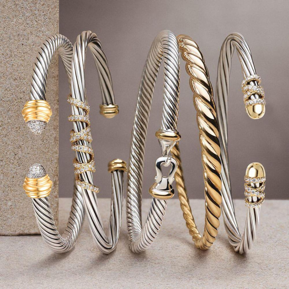 GODKI Trendy Luxury Stackable Bangle Cuff For Women Wedding Full Cubic Zircon Crystal CZ Dubai Silver Color Party Bracelet 2020