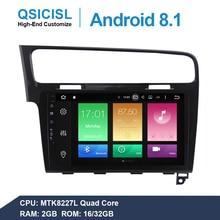 10.1 IPS Android 8.1 car radio multimedia player for Volkswagen Golf 7 MK7 2013-2017 car headunit 1 din gps navigation stereo цена