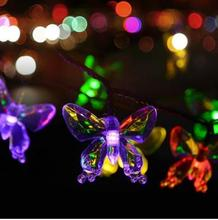 Solar LED Butterfly Waterproof Christmas Lights Outdoor  Garden Decoration Lantern String Light Halloween