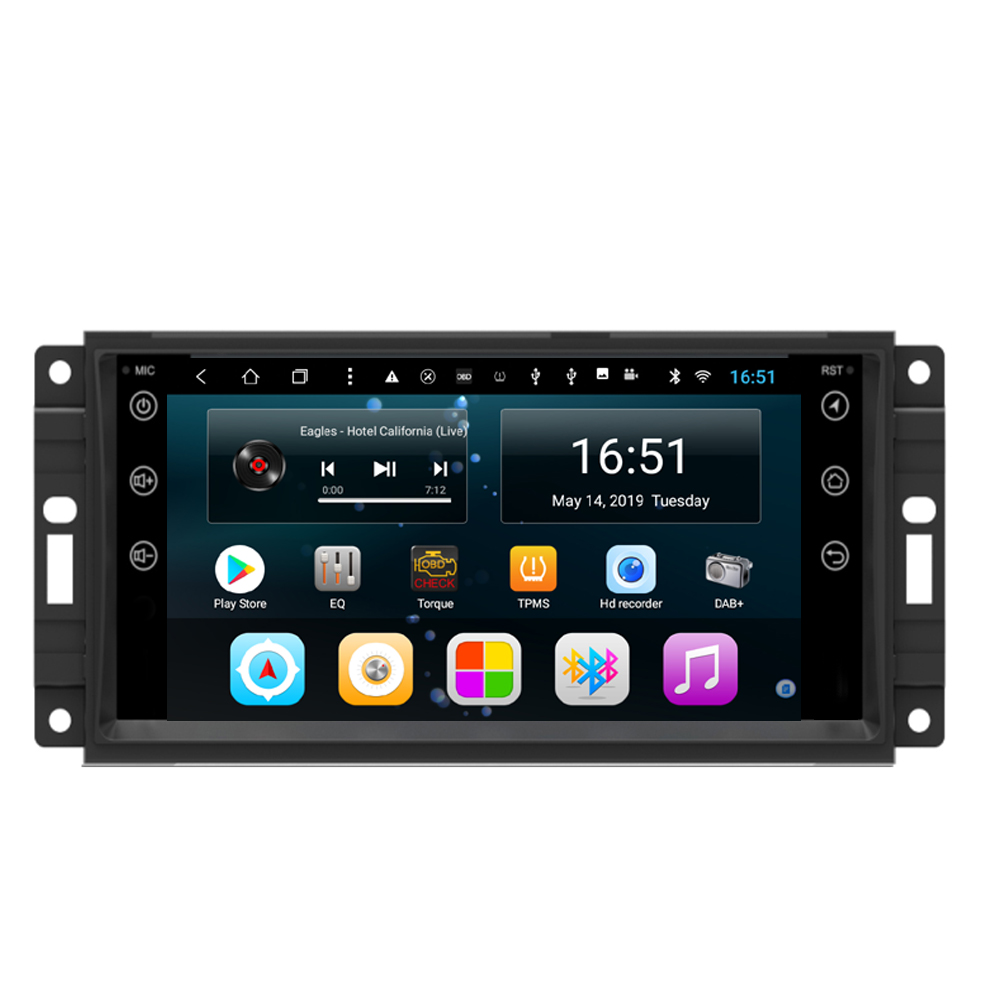 1DIN Android 8 Car Multimedia Player GPS Radio RDS for dodge charger nitro sxt liberty(China)