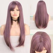 Женский парик с челкой charisma Фиолетовый из термостойкого