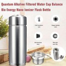 Aço inoxidável Alcalina Filtrada 400ml Copo de Água de Equilíbrio Bio Quantum Energia Nanos Garrafa Eletrolítico Ionizador Flask Cup Energia