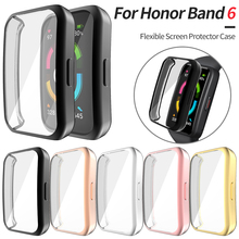Screen-Protector-Cover Case Band Honor Smart-Watch Bumper Lightweight for 6 Flexible