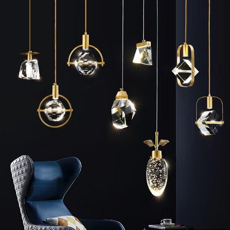 FSS Modern Crystal Pendant Lights Luster Living Room Hanglamp Art Lustres Kitchen Led Luxury Pendant Lamp Indoor Light Fixtures