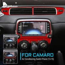 FLUGGESCHWINDIGKEIT Carbon Faser für Chevrolet Camaro 2013 2014 2015 Zubehör Innenausstattung Auto Klimaanlage Schalter Panel Aufkleber