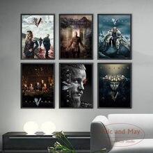 Série de tv mostrar vikings cartazes e impressões pintura em tela fotos na parede clássico filme decoração para casa plakat