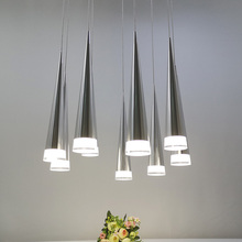Modern led Conical pendant light Aluminum metal home Industrial lighting hanging lamp dining living room cafe droplight fixture