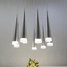 Moderno led cônico luz pingente de alumínio metal casa iluminação industrial lâmpada pendurada sala jantar café droplight luminária