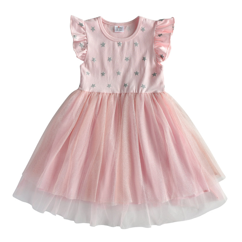 DXTON Girls Clothes 2020 New Summer Princess Dresses Flying Sleeve Kids Dress Unicorn Party Girls Dresses Children Clothing 3-8Y