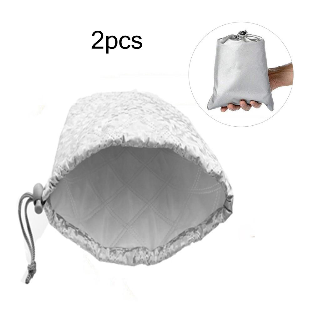 2PCS Car Side Mirror Protective Cover Waterproof Frost Guard Mirror Cover For Rear View Mirror
