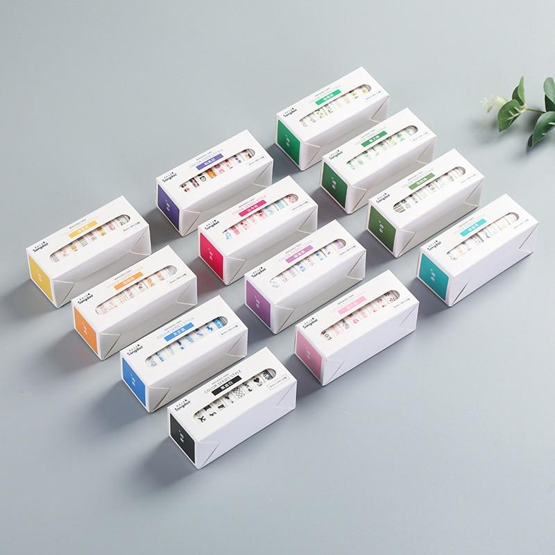 10Pcs Cute Dividing Line Washi Tape Kawaii Adhesive Tape Decor Masking Tapes For Kids Scrapbooking DIY Supplies Stationery