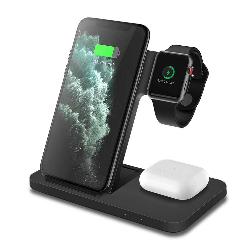 Best Cell Phone Accessories: 3 in 1 wireless charge stand